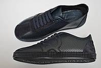 Мужские кроссовки кеды Armani  черные кожаные