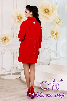 Женское красное демисезонное пальто (р. 44-54) арт. 1015 Тон 49, фото 2