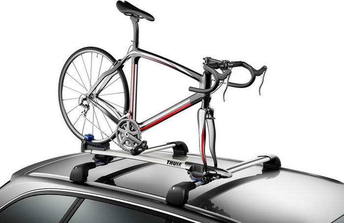 Крепление Thule Sprint 569 для 1 велосипеда c фиксацией за вилку на крышу