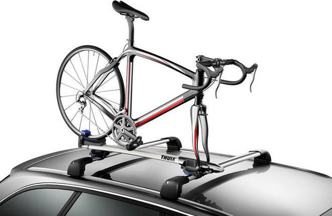 Крепление Thule Sprint 569 для 1 велосипеда c фиксацией за вилку на крышу , фото 2