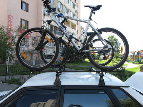 Крепление Amos для 1 велосипеда (стальное) на крышу , фото 2