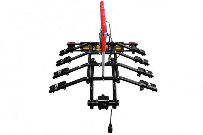 Платформа Amos для 4 велосипедов (черная)  на фаркоп