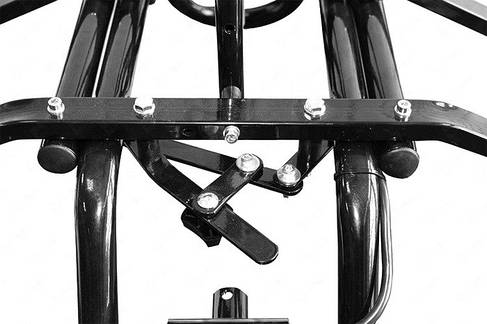 Платформа Amos для 4 велосипедов (черная)  на фаркоп, фото 2