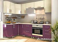 Кухня Hihg Gloss / Хьюго Глосс (Мебель стар) пурпур+ваниль