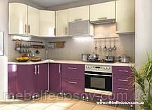 Кухня Hihg Gloss / Хьюго Глос (Меблі стар) пурпур+ваніль м/п