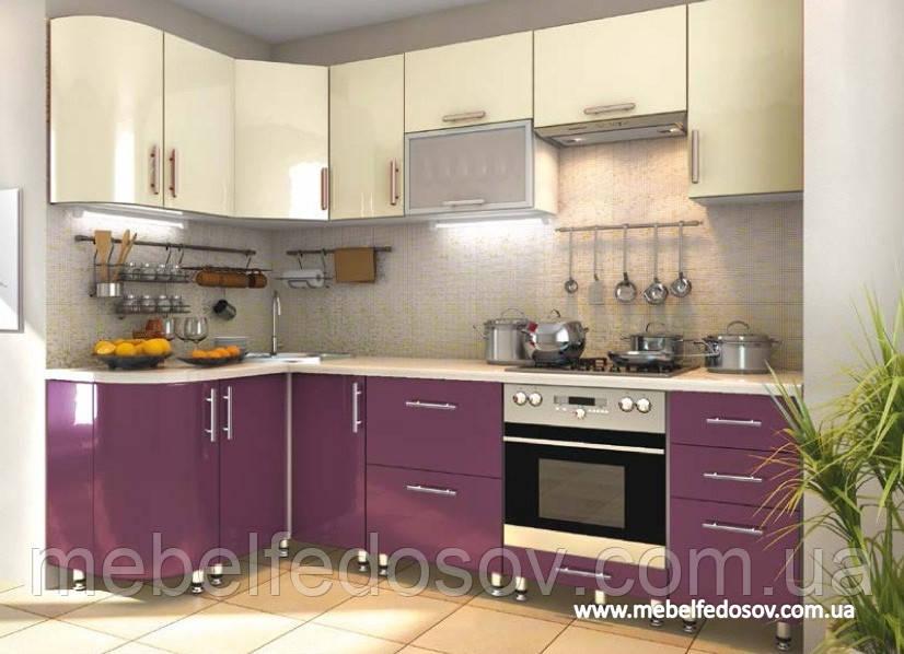 Кухня Hihg Gloss / Хьюго Глосс (Мебель стар) пурпур+ваниль - СПД Федосов Г.В. в Белой Церкви