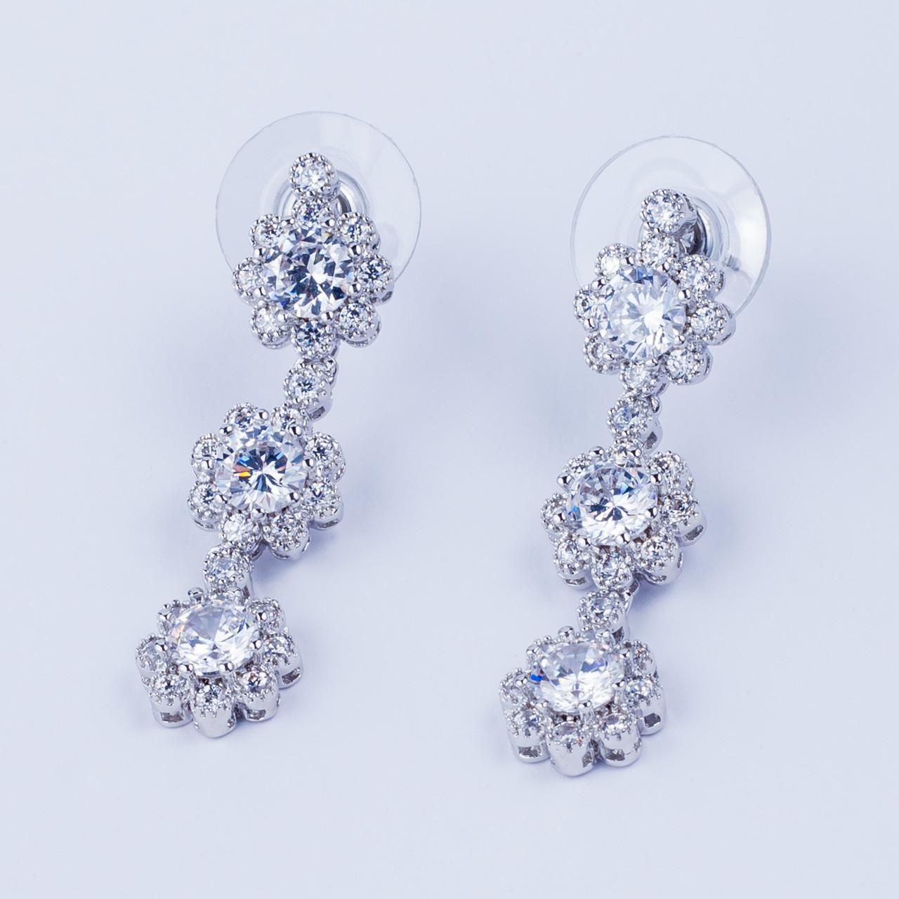 "Серьги ""Цветы-кристаллы"""