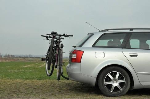 Велокрепление Aguri Jet Silver навесное на 2 велосипеда  на фаркоп, фото 2