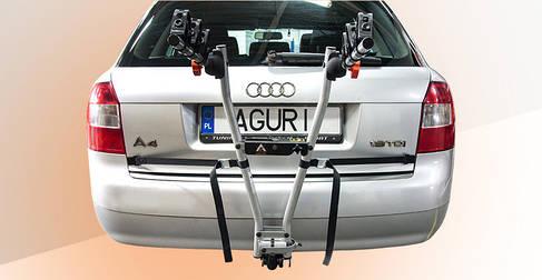 Велокрепление Aguri Jet Silver навесное на 3 велосипеда  на фаркоп, фото 2