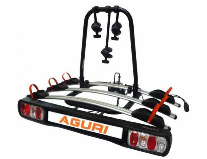 Велокрепление Aguri Triumph платформа на 3 велосипеда  на фаркоп