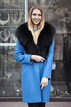 Хутряний комір з песця чорний bluefox big blue fox fur collar in black