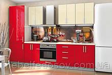 Кухня Hihg Gloss / Хьюго Глос (Меблі стар) фераррі+ваніль м/п