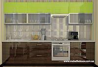 Кухня Hihg Gloss / Хьюго Глосс (Мебель стар) палисандр+лайм, фото 1