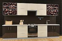 Кухня Hihg Gloss / Хьюго Глосс (Мебель стар) шоколад+ваниль М/П