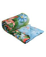 Шерстяное стеганое одеяло 155х210 облегченное (сатин)