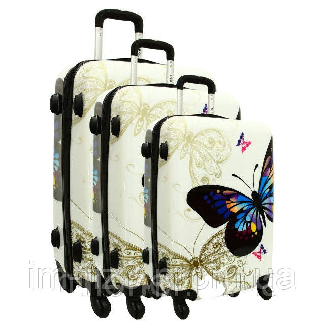 15d8531ea0c4 Чемодан сумка 5188 RGL набор 3 штуки бабочки S: продажа, цена в ...