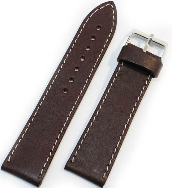 Шкіряний міцний чоловічий ремінець для годинника Mykhail Ikhtyar 22-529 коричневий