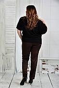 Женская легкая блуза больших размеров 0429 цвет черный размер 42-74, фото 3