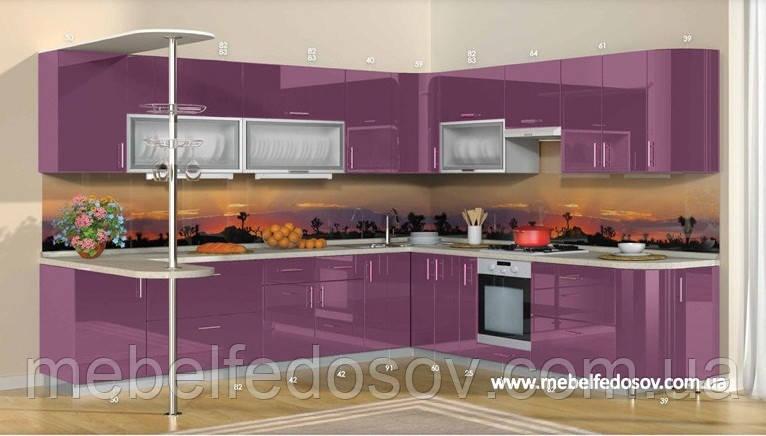Кухня Hihg Gloss / Хьюго Глосс (Мебель стар) пурпур