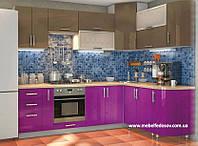 Кухня Hihg Gloss / Хьюго Глосс (Мебель стар) лаванда+капучиноМ/П