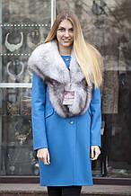 Хутряний комір з песця Bluefox blue fox fur cape fur collar fur shawl