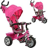 Трехколесный велосипед с ручкой M 3205A-3, розовый