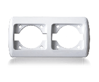 Рамка двойная для розеток и выключателей  ERSTE CLASSIC 9201-82 белая