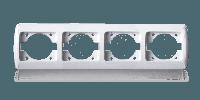 Рамка четырехместная для розеток и выключателей ERSTE CLASSIC 9201-84 белая, фото 1