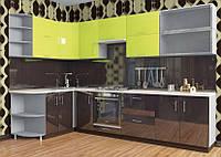 Кухня Hihg Gloss / Хьюго Глосс (Мебель стар) лайм+палисандр, фото 1