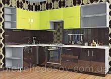 Кухня Hihg Gloss / Хьюго Глос (Меблі стар) лайм+палисандрМ/П