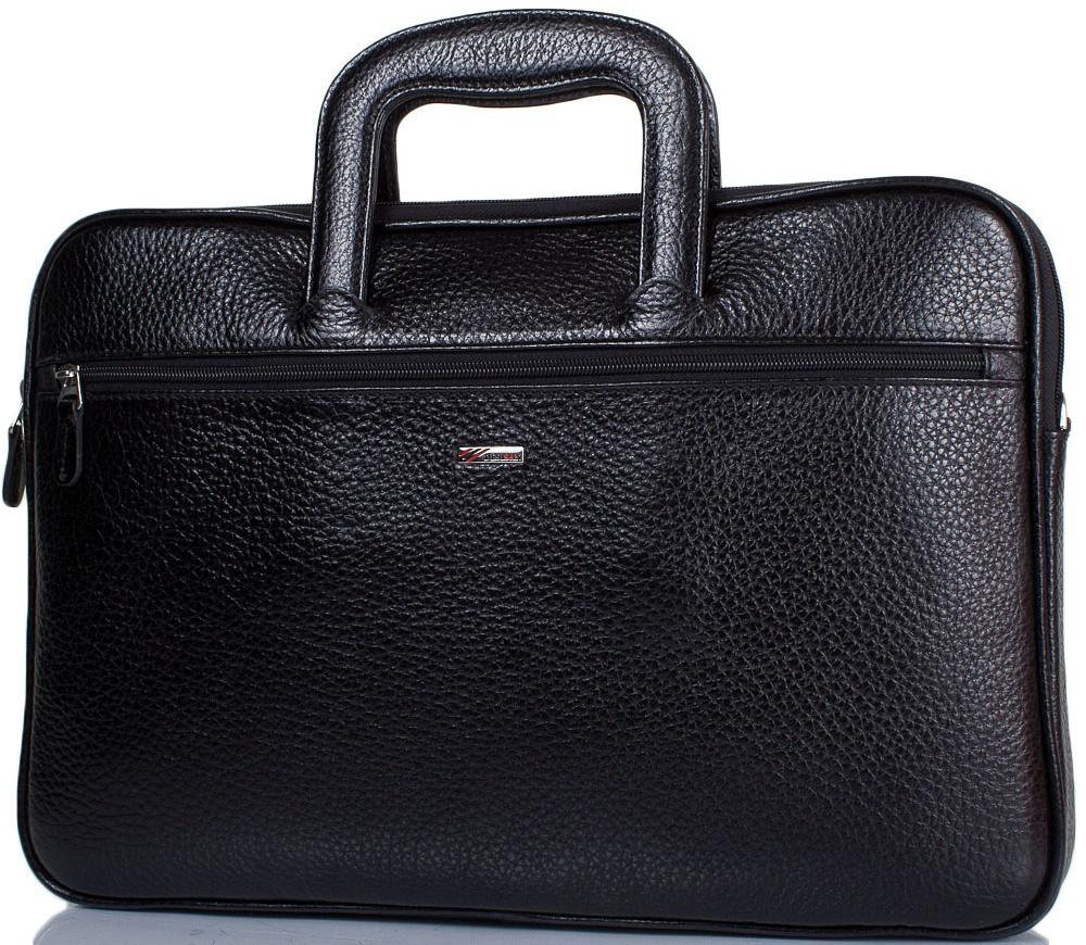 d4fa4f93e94d Кожаный мужской портфель DESISAN SHI321-011-2FL черный — только ...