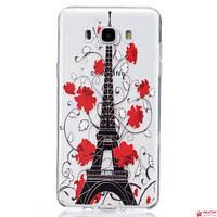 Полимерный Чехол Для Samsung Galaxy J7 J710 (Tour Eiffel)