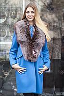 """Меховой воротник  из  чернобурки, цвет - """"старое золото"""" silver fox fur cape fur collar shawl"""