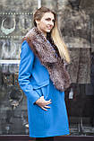 """Меховой воротник  из  чернобурки, цвет - """"старое золото"""" silver fox fur cape fur collar shawl , фото 2"""