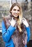 """Меховой воротник  из  чернобурки, цвет - """"старое золото"""" silver fox fur cape fur collar shawl , фото 3"""