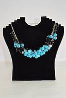 Ожерелье с голубым агатом, авторская работа, фото 1