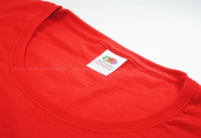 Красная женская классическая футболка