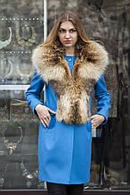 Комір з єнота на пальто
