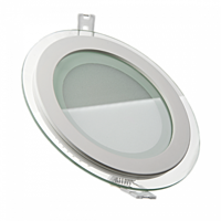 LED светильник LEDMAX круг 6W SMD5730 6500К стекло