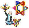 Магнитный конструктор для ребенка магнитные блоки 40 элементов, фото 4