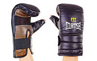 Снарядные перчатки с открытым большим пальцем Кожа MATSA MA-6011-M (р-р L-XL, черный)