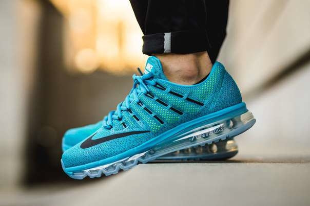 ffe8c085 Мужские кроссовки Nike Air Max 2016 голубые с прозрачной подошвой, размеры  с 41 по45 -