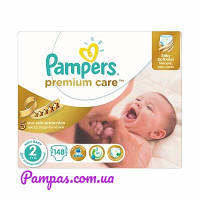 Подгузники Pampers Premium Care New Baby 2 (3-6 кг) Mega Box 160 шт.