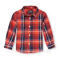 Хлопковая рубашка 12-18 мес США  Оранжевый