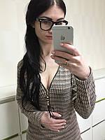 Стильная блузка с молнией, серо-бежевая
