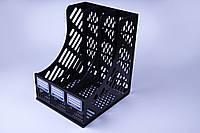 Лоток для бумаги тройной, вертикальный, для офиса, школы, дома., фото 1