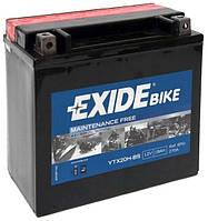 EXIDE YTX20H-BS Мото аккумулятор 18 А/ч, 310 А, (+/-), 175х87х155 мм