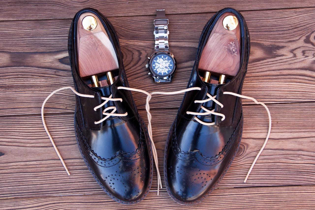 Мужские кожаные броги  Florentino, made in Italy, (новые).