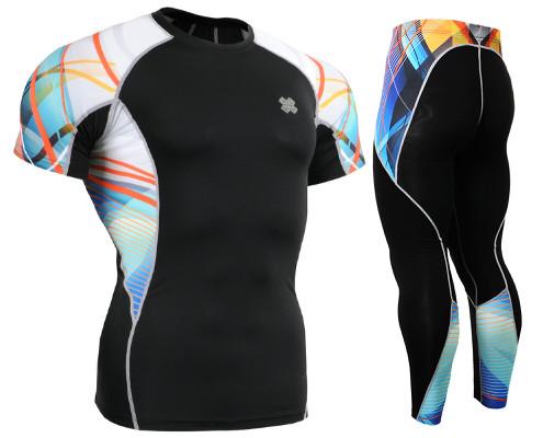 Комплект компресійна футболка Fixgear і компресійні штани C2S-B49+P2L-B49