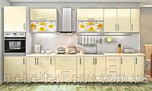 Кухня Hihg Gloss / Хьюго Глос (Меблі стар) ваніль+фотодрук м/п